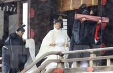 Nhật hoàng Naruhito phát biểu tại buổi lễ đăng quang