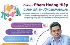 [Infographics] Giáo sư Phạm Hoàng Hiệp giành giải thưởng Ramanujan