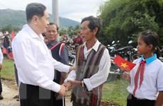 Ông Trần Thanh Mẫn dự Ngày hội đại đoàn kết tại Ninh Thuận