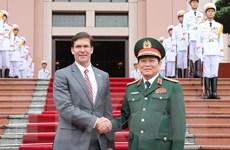 Bộ trưởng Bộ Quốc phòng Hoa Kỳ Mark Esper thăm chính thức Việt Nam