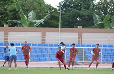 [Photo] U22 Việt Nam tập luyện, sẵn sàng cho trận đấu với U22 Brunei
