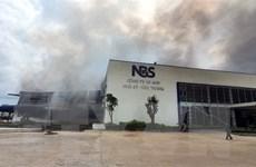 Cháy lớn thiêu rụi nhà xưởng của Công ty May Nhà Bè tại Sóc Trăng