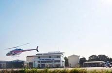 Khai trương đường bay ngắm cảnh sông Hồng bằng trực thăng Bell 505