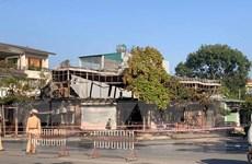 Vĩnh Phúc: Cháy quán ăn trong đêm làm 4 người thiệt mạng