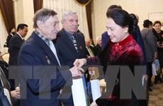 Chủ tịch Quốc hội Nguyễn Thị Kim Ngân gặp cựu chiến binh Belarus