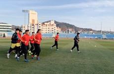 Đội tuyển U23 Việt Nam chăm chỉ tập luyện ở miền Nam Hàn Quốc