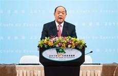 Trưởng đặc khu hành chính Macau Hạ Nhất Thành tuyên thệ nhậm chức