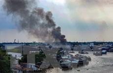 Cần Thơ: Cháy cơ sở sản xuất dầu chai ngay cạnh Chợ nổi Cái Răng