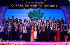 Quỹ Tâm Tài Nghệ An chính thức thông báo xét thưởng lần thứ tư