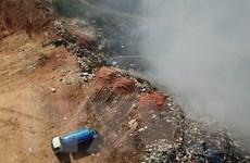 Huy động lực lượng chuyên nghiệp xử lý đám cháy tại bãi rác Cam Ly