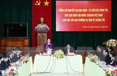 Chủ tịch Quốc hội làm việc với Ban Thường vụ Tỉnh ủy Quảng Trị