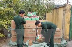Lực lượng biên phòng Lào Cai thu giữ gần 700kg pháo hoa lậu