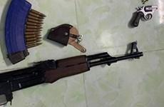 Bắt giữ ổ nhóm cho vay lãi nặng, tàng trữ vũ khí quân dụng