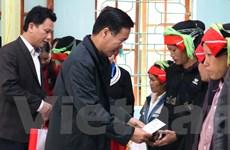 Ông Võ Văn Thưởng thăm, tặng quà Tết cho hộ nghèo tại Hà Giang