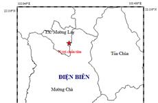 Điện Biên: Xảy ra động đất có độ lớn 2,6 ở thị xã Mường Lay