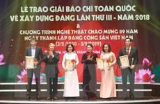 Giải 'Búa liềm Vàng' 2019 phản ánh sinh động thực tiễn xây dựng Đảng