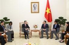 Phó Thủ tướng Vương Đình Huệ tiếp Đại sứ Trung Quốc Hùng Ba