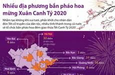 [Infographics] Nhiều địa phương bắn pháo hoa mừng Xuân Canh Tý 2020