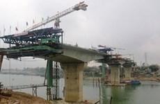Nam Định: Chuẩn bị thông xe cầu Thịnh Long vượt sông Ninh Cơ