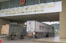 Thêm 580 tấn nông sản Việt Nam được thông quan qua cửa khẩu Lào Cai