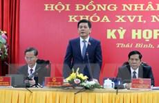 Kỳ họp bất thường HĐND tỉnh Thái Bình thông qua nhiều nghị quyết