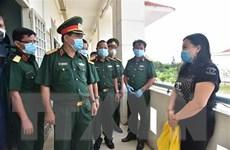 Kiểm tra công tác phòng dịch COVID tại Trường Quân sự Quân khu 9