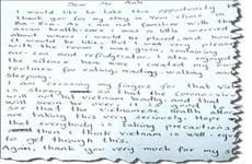 Du khách Na Uy gửi thư cảm ơn điều dưỡng của Bệnh viện Bà Rịa