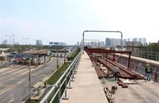 Tuyến metro số 1 Bến Thành-Suối Tiên đạt trên 71% khối lượng tổng thể