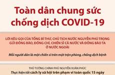 [Infographics] Toàn dân Việt Nam chung sức chống dịch COVID-19