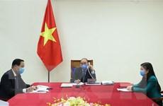 Lãnh đạo Việt Nam-Hàn Quốc điện đàm về việc phòng, chống dịch COVID-19