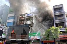 Cháy lớn thiêu rụi nhiều tài sản tại cửa hàng dịch vụ cho thú nuôi
