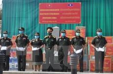 Hỗ trợ vật tư y tế cho các địa phương của Lào chống dịch COVID-19