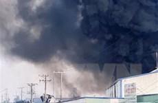Tiền Giang: Dập tắt cháy lớn tại công ty sản xuất bao bì trái cây