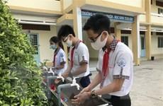 Ngày 4/5, học sinh cấp Trung học cơ sở trở lên ở Hà Nội đi học trở lại