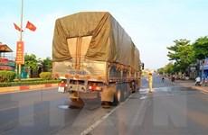Bình Phước: Va chạm với xe tải, hai vợ chồng đi xe máy gặp nạn