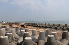 [Photo] Cận cảnh công trường 'vá' cửa biển Đà Diễn ở Phú Yên