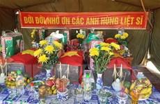 Quảng Trị: Cất bốc 19 hài cốt liệt sỹ tại Cam Lộ và Hướng Hóa