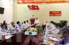 Đoàn công tác Ban Bí thư Trung ương Đảng làm việc với tỉnh Bình Thuận