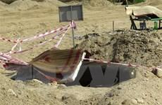 Hủy nổ an toàn quả bom được phát hiện tại lòng sông Trà Khúc