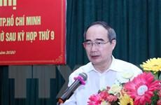 Bí thư Thành ủy Thành phố Hồ Chí Minh tiếp xúc cử tri huyện Cần Giờ