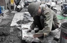 Hà Nội: Thành lập đoàn kiểm tra việc thi công, lát đá vỉa hè