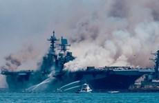 Hỏa hoạn trên tàu chiến USS Bonhomme Richard: Gần 60 người bị thương