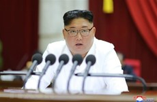 Nhà lãnh đạo Triều Tiên Kim Jong-un dự cuộc họp Quân ủy Trung ương