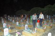 Cầu siêu tưởng niệm các anh hùng liệt sỹ tại Nghĩa trang Việt-Lào