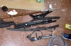 Triệt phá tụ điểm phức tạp về ma túy, thu giữ nhiều 'vũ khí nóng'