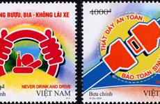 Phát hành bộ tem truyền tải thông điệp về an toàn giao thông