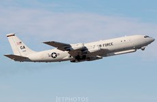 Máy bay do thám E-8C của Không quân Mỹ bay qua Hàn Quốc