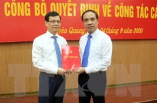 Tuyên Quang công bố quyết định của Thủ tướng về công tác cán bộ
