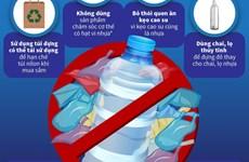 [Infographics] Chống rác thải nhựa bằng những hành động thiết thực