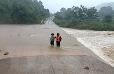 Mưa lớn diện rộng ở Quảng Trị, mực nước trên các sông dâng cao